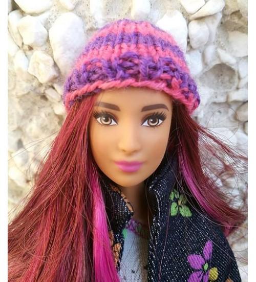 Kootud müts  Barbiele