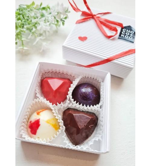 """Käsitööna valminud šokolaadikommid """"Südamed"""""""