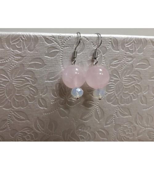 Väiksed roosat tooni kõrvarõngad