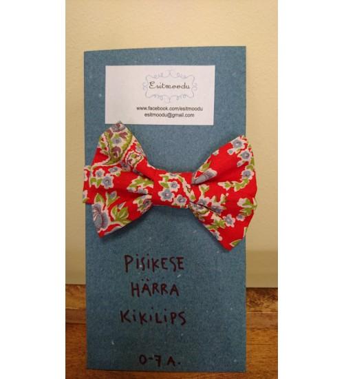 Punane, siniste lilledega pisikese härra kikilips
