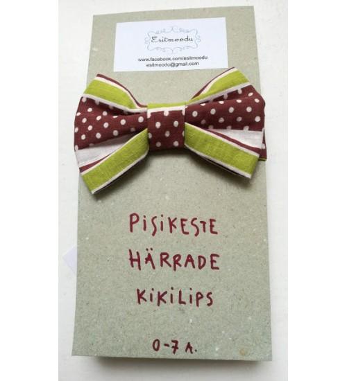 Pisikese härra kikilips - pruuni, valge ja rohelisekirju
