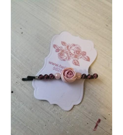 """Juukselõks """"Puuderoosa roos"""""""