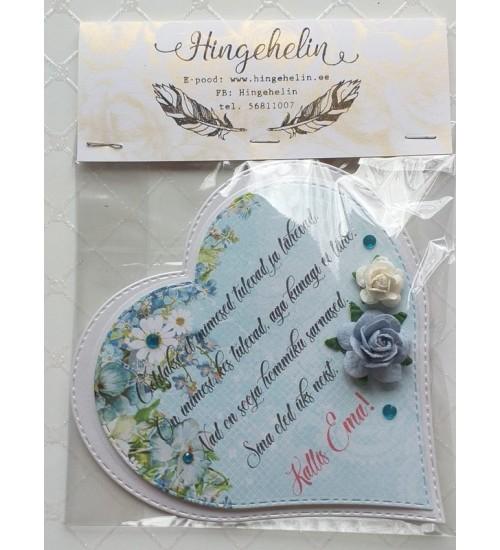 """Sinakate roosidega südamekujuline magnet """"Öeldakse, et inimesed tulevad ja ..."""""""