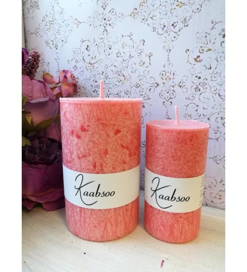Väike pitsiefektiga lauaküünal, roosa