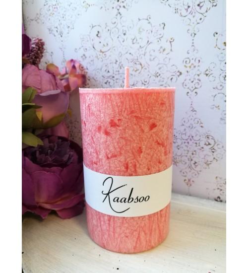 Suur pitsiefektiga lauaküünal, roosa
