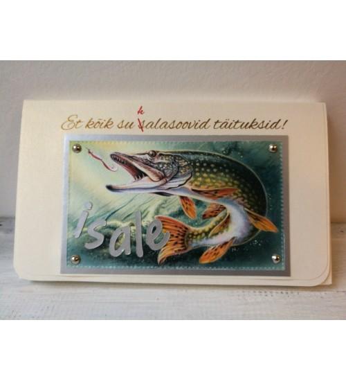 Kala pildiga hõbedane Šokolaaditasku isale