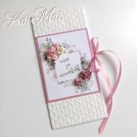"""Romantiline pulmakaart """"Õnne ja armastust"""", struktuurse paberiga"""