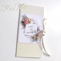 """Romantiline pulmakaart """"Õnne ja armastust"""", õrna lilla läikega"""