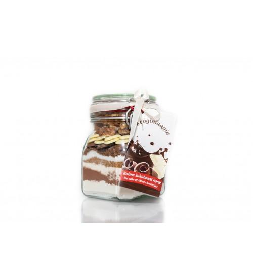 Koogisegu kolme šokolaadikook