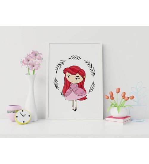 "Poster ""Punapäine printsess"""