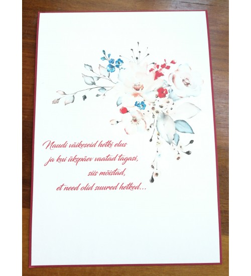 Kinkekoti ja karbi kaunistus erinevate sõnumitega