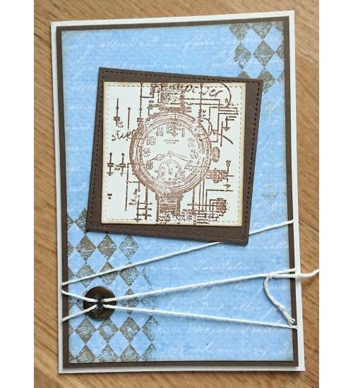 Kella pildi ja rahataskuga kaart härrasmehele