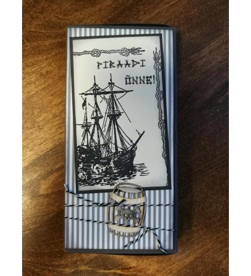 """Šokolaaditasku """"Piraatide õnnesoovid"""""""