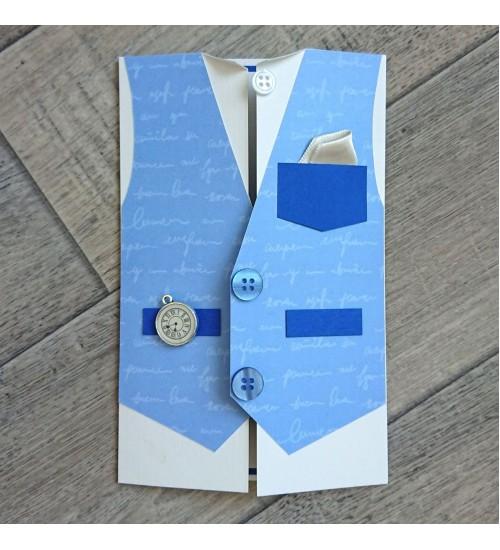 Härrasmehelik  vestiga õnnitluskaart, rahatasku