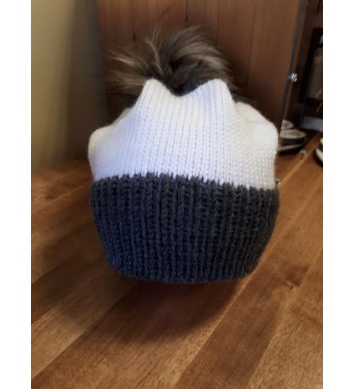 Halli ja valgega tutimüts 55-57cm
