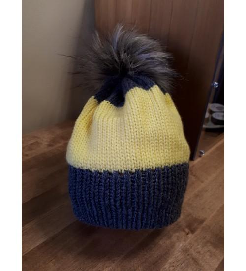 Halli ja kollasega tutimüts 48-50cm