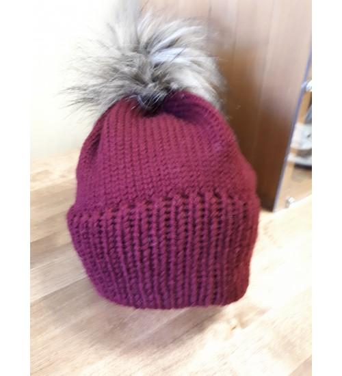 Bordoopunane tutimüts 48-50cm