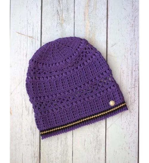 Lillat värvi puuvillane müts