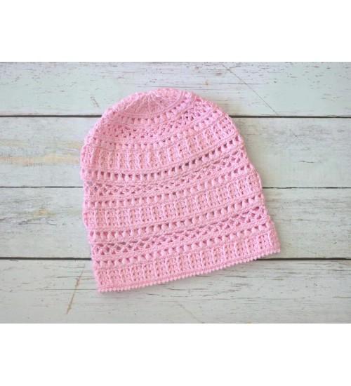 Roosat värvi puuvillane müts