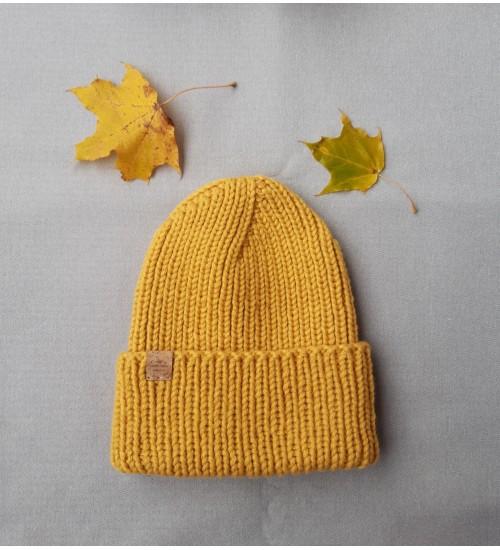Kootud soe müts 53-57cm
