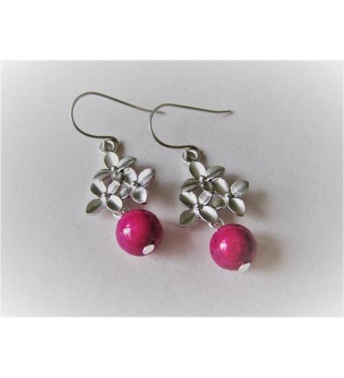 aa2336f2e53 Värvitud roosa marmoriga kõrvarõngad