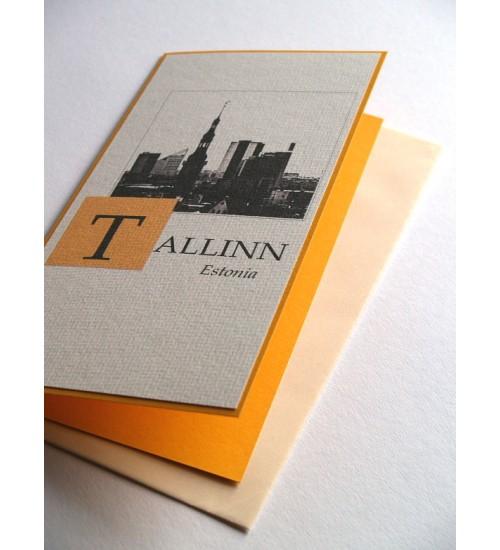 Valge-kollane postkaart