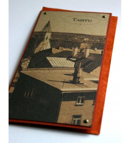 """Punakas """"Tartu"""" postkaart"""