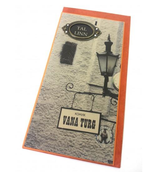 """Oranž """"Tallinn, kohvik Vana turg"""" postkaart"""