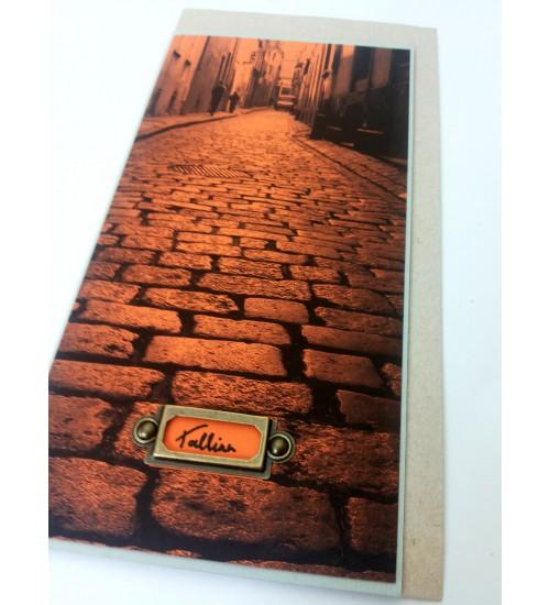 """Helehall-oranž """"Tallinn"""" postkaart"""