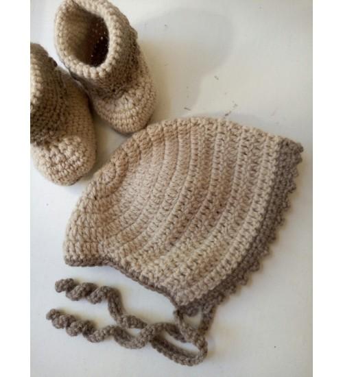 Beebikomplekt mütsi ja sokkidega 0-6 kuud