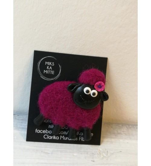 Bordoo värvi kasukaga lambapross