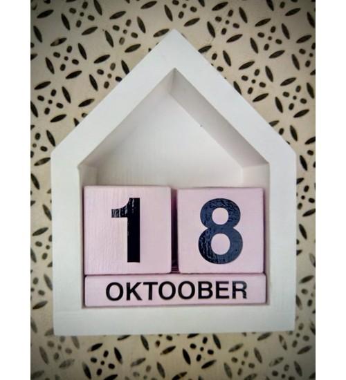 Roosa-valge kalender