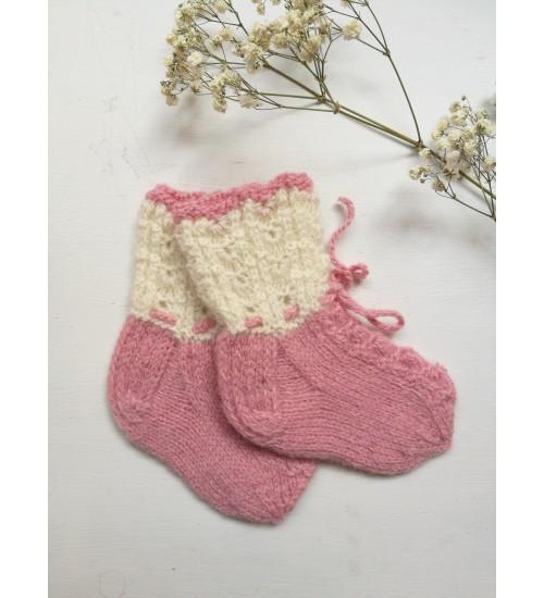 Roosad beebisokid paeltega 6- 18 kuud