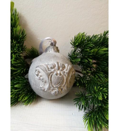 Jõulukuul Ornamentitega, hall