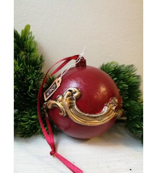 Jõulukuul ornamentikaga, punane