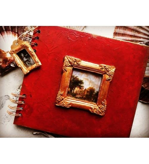Punane album ornamentidega