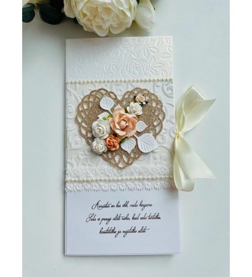 Elegantne õnnitluskaart rahataskuga, luuletusega