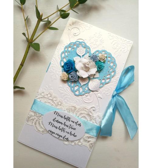 Õnnitluskaart pulmadeks luuletusega, rahatasku