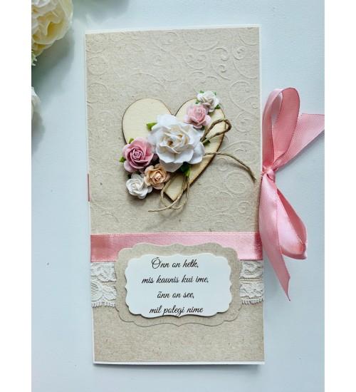 Ilusa luuletusega õnnitluskaart, rahatasku