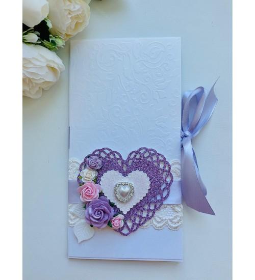 Õnnitluskaart pulmadeks, rahatasku