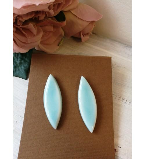 Portselanist piklikud kõrvarõngad, pastelne sinine