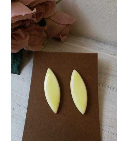 Portselanist piklikud kõrvarõngad, pastelne kollane