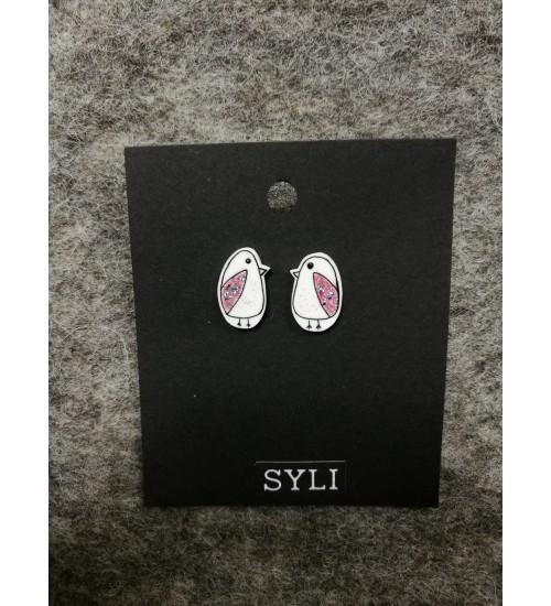 Roosade tiibadega tuvi kujulised kõrvarõngad