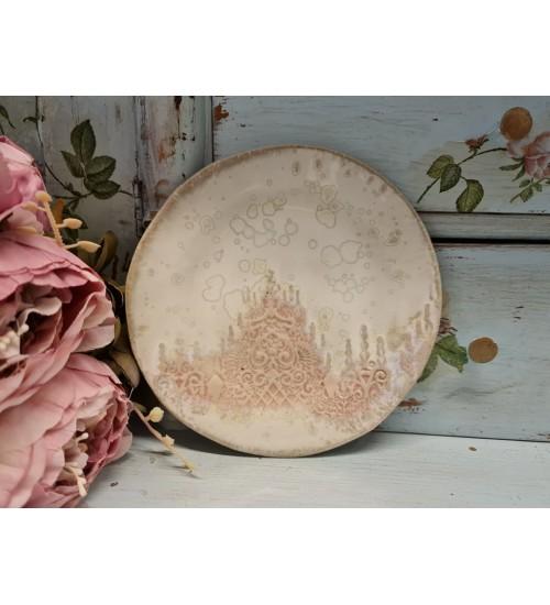 """Kaunis taldrik """"Roosa ornament"""""""