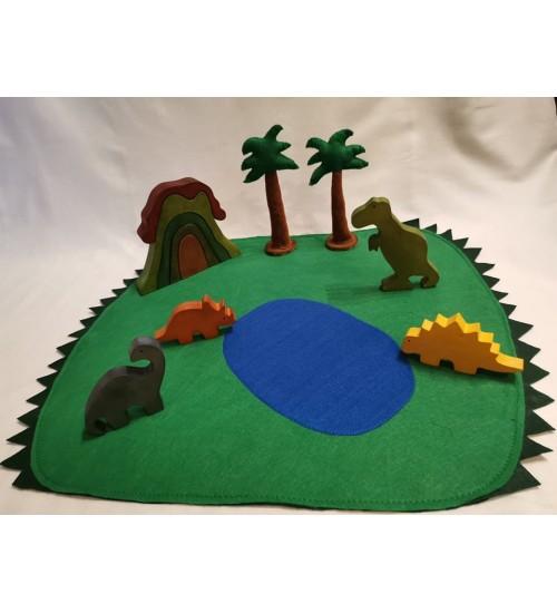 """Puidust ja vildist mängukomplekt """"Dinosaurused"""""""