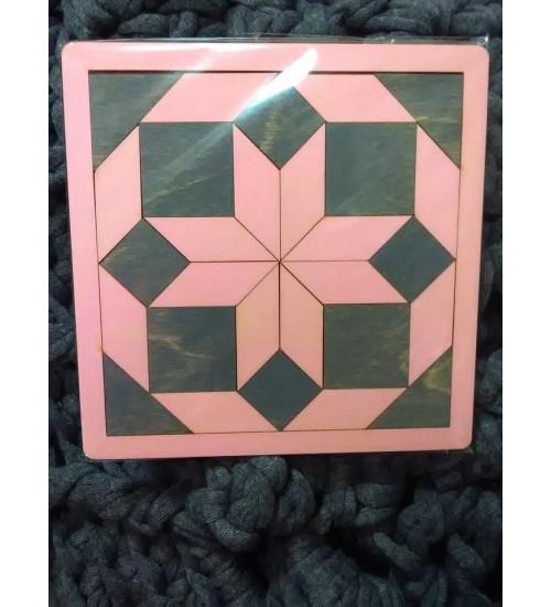 Tangram roosa kaheksakand