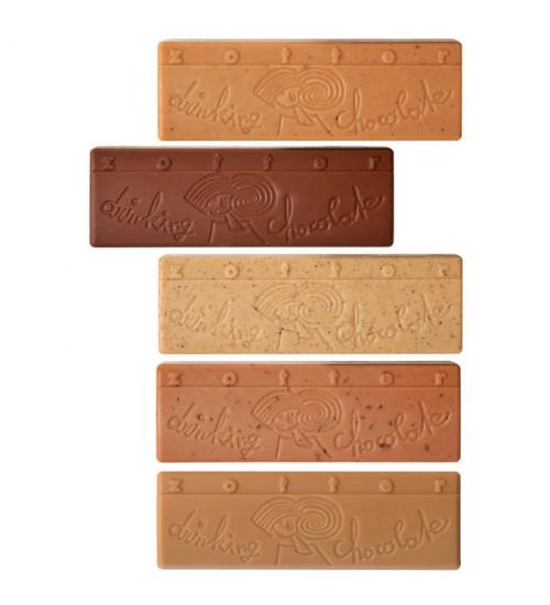 "Joogišokolaadi komplekt ""Kids"" (Caramel, Cinnamon Banana, Honey Cinnamon, Milk Cocoa, White Vanilla)"