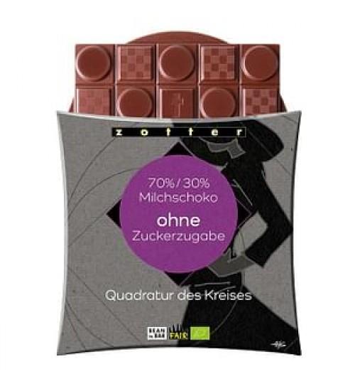 """Ring-ruudus šokolaad """"70% 30% milchshoko, ohne suckerzugabe"""""""