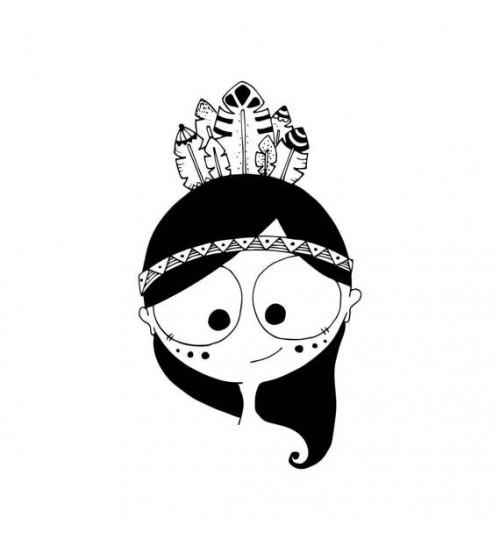 Indiaanitüdrukuga poster