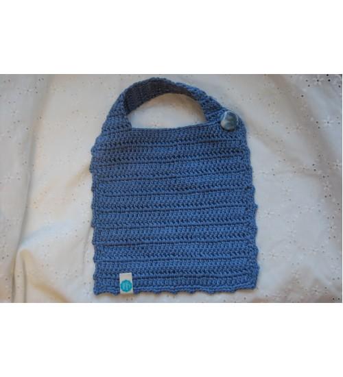 Käsitsi heegeldatud sinine pudipõll